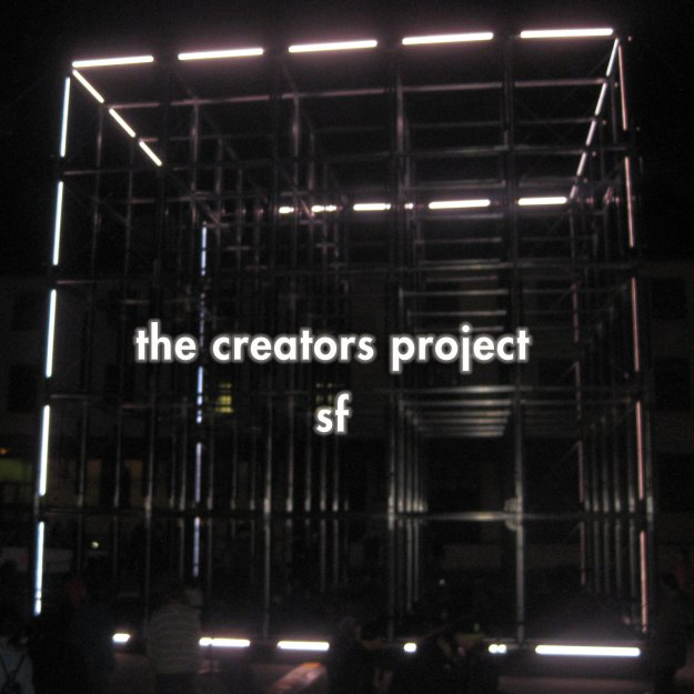 The creators project light up cube