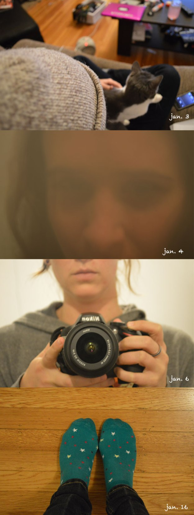self portraits in january