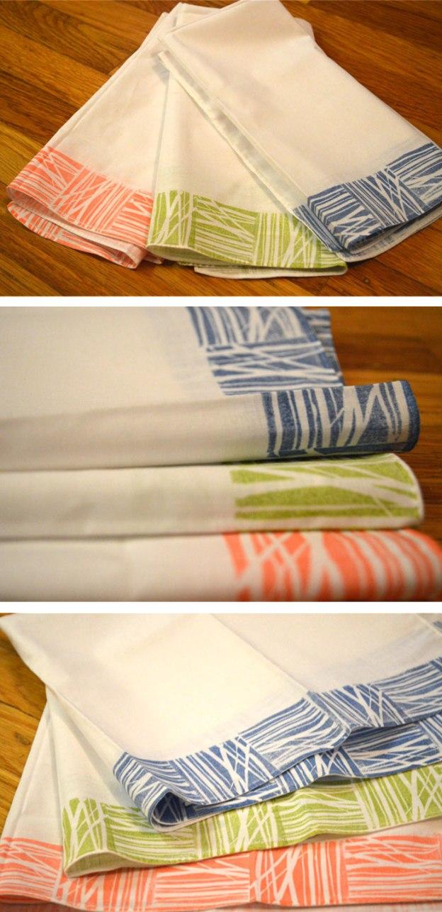 stamped  towels