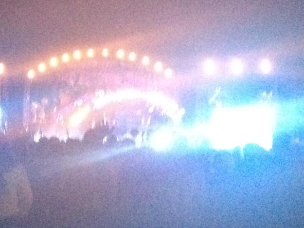 blurry light show